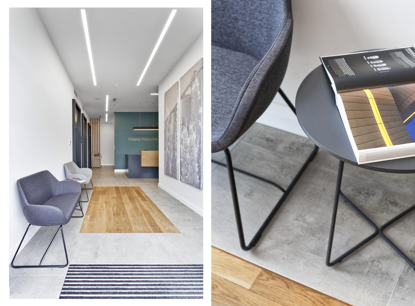 Recepcja i fotele - firma POLNET