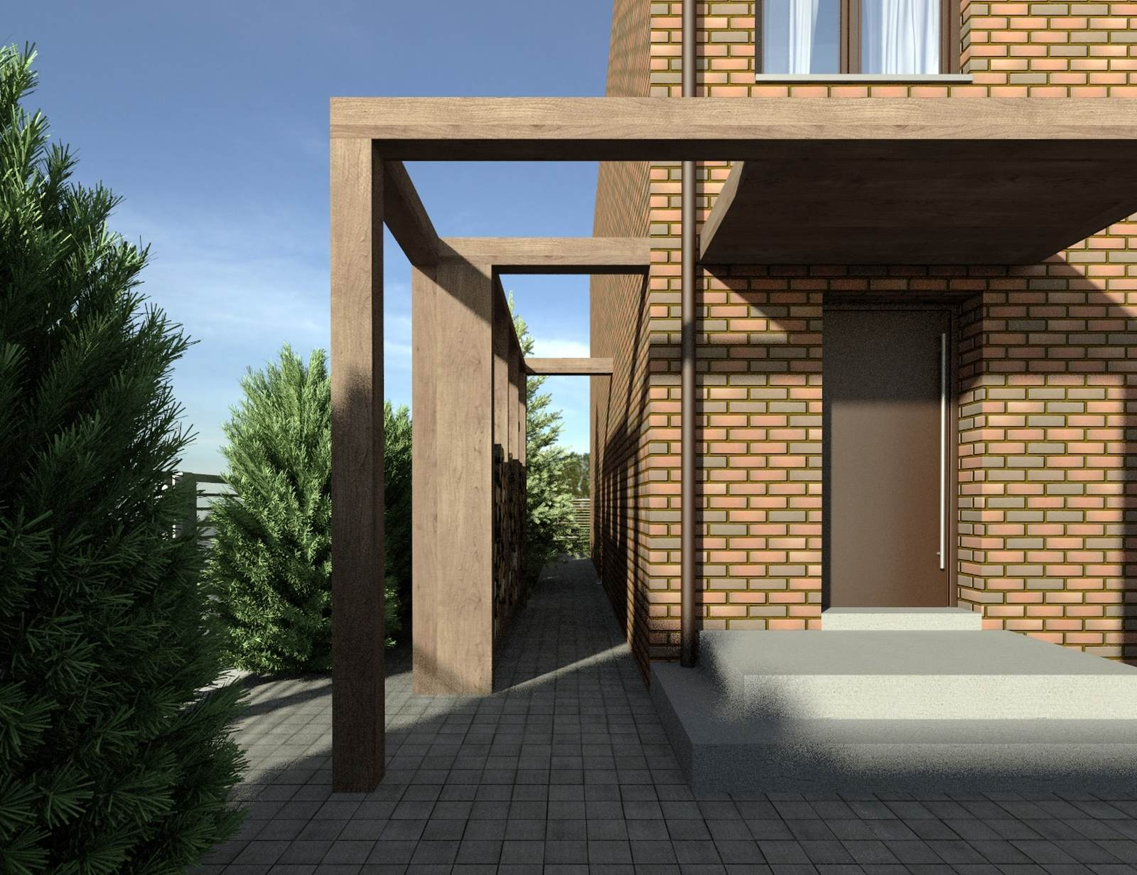Dom przy lesie - drzwi