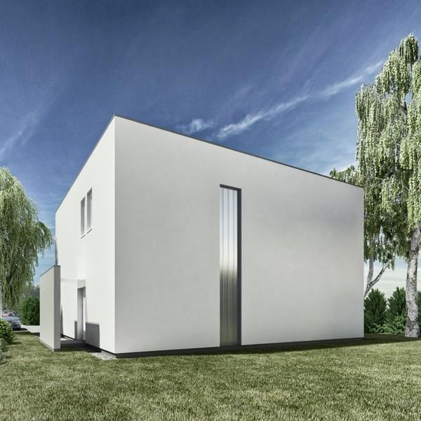 Prosta, kubiczna forma - dom jednorodzinny w Poznaniu