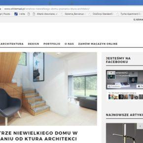 """Publikacja """"Wnętrze niewielkiego domu w Poznaniu"""" - portal MAD White"""