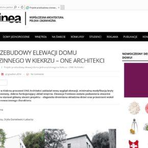 Projekt przebudowy elewacji domu - Archinea