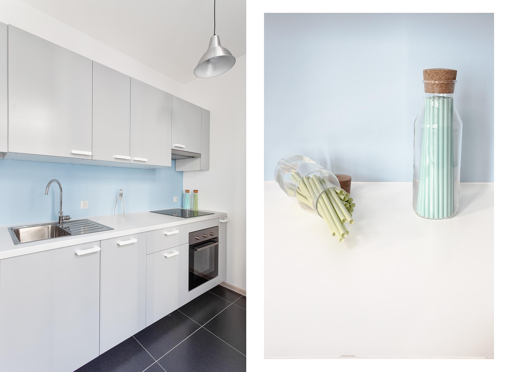 Kuchnia - Mieszkanie błękitne
