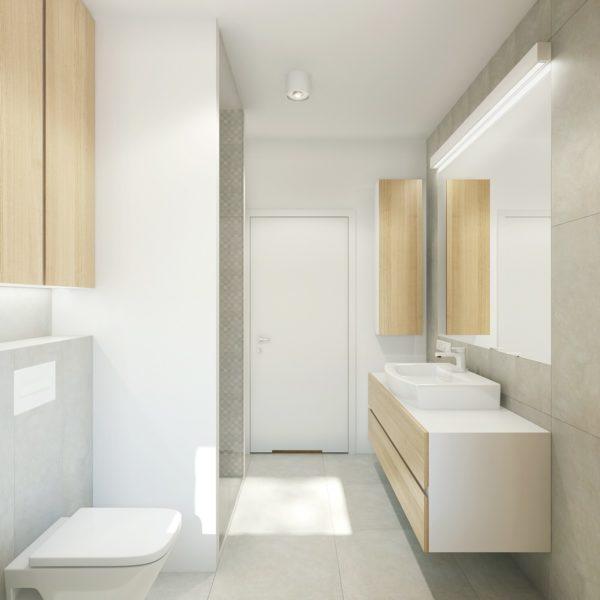 Łazienka - wnętrza mieszkania na Grunwaldzie